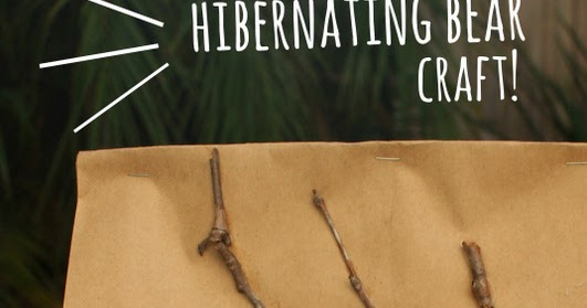 Recycled Hibernating Bear Craft