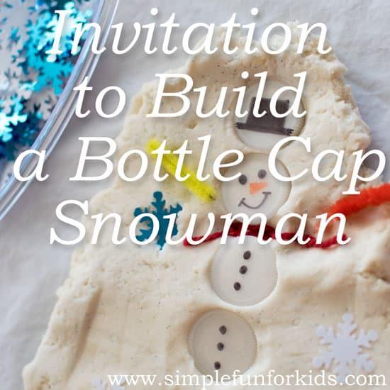 Build a Bottle Cap Snowman