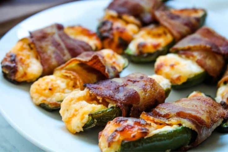Air Fryer Bacon-Wrapped Stuffed Jalapenos with Cream Cheese