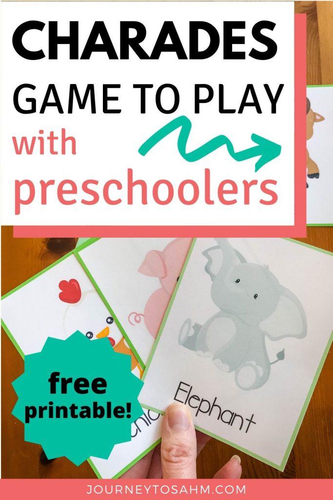 Animal Charades Printable for Preschoolers