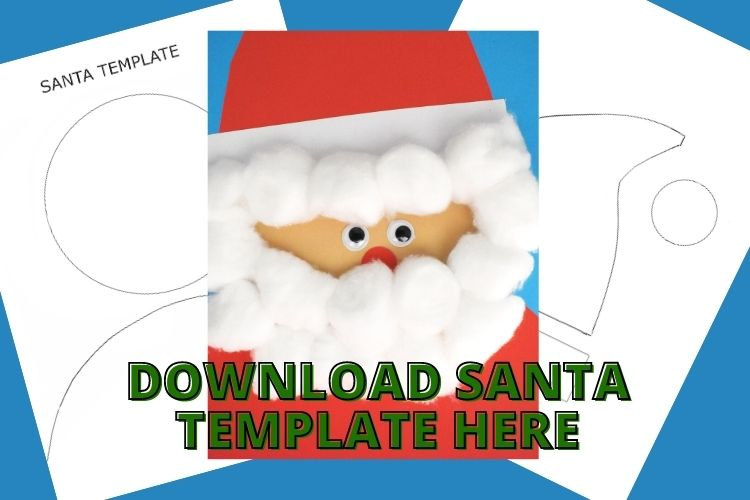 Collage of Santa Template and finished Santa project