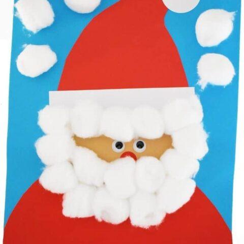 Santa Claus craft with cotton balls